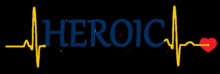 HEROIC logo - yellow blue yellow